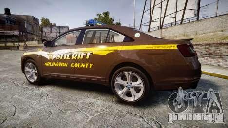 Ford Taurus Sheriff [ELS] Virginia для GTA 4 вид слева