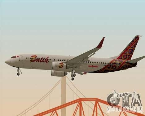 Boeing 737-800 Batik Air для GTA San Andreas вид справа