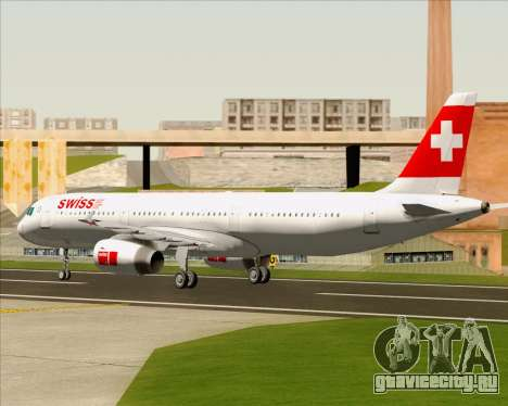Airbus A321-200 Swiss International Air Lines для GTA San Andreas вид сзади