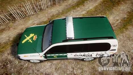 Toyota Land Cruiser Guardia Civil Cops [ELS] для GTA 4 вид справа