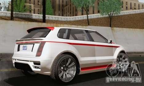 Huntley S для GTA San Andreas вид сзади слева