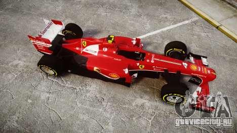 Ferrari F138 v2.0 [RIV] Massa TSD для GTA 4 вид справа