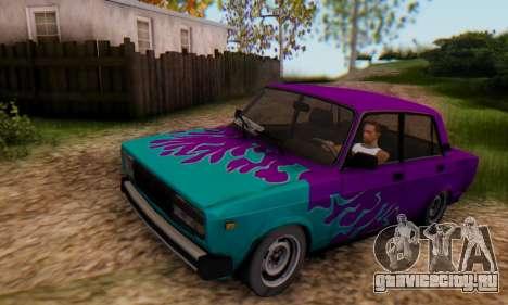 ВАЗ 2107 Blue Flame для GTA San Andreas