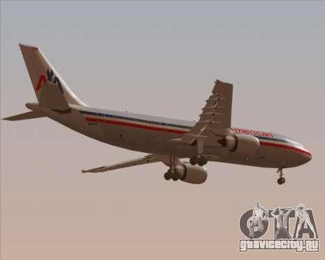 Airbus A300-600 American Airlines для GTA San Andreas вид снизу