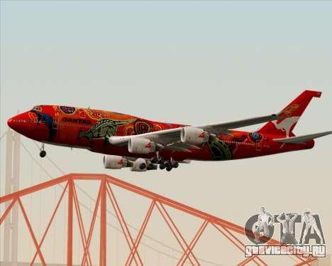 Boeing 747-400ER Qantas (Wunala Dreaming) для GTA San Andreas вид сзади слева