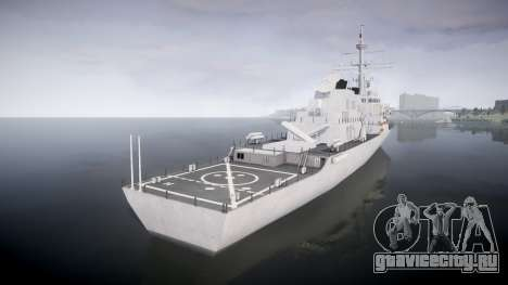 US Navy Destroyer Arleigh Burke для GTA 4 вид сзади слева