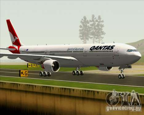 Airbus A330-300 Qantas (New Colors) для GTA San Andreas вид снизу