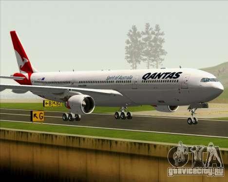 Airbus A330-300 Qantas (New Colors) для GTA San Andreas вид снизу