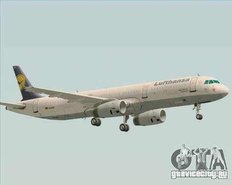 Airbus A321-200 Lufthansa для GTA San Andreas вид сбоку