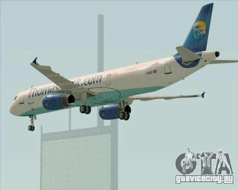 Airbus A321-200 Thomas Cook Airlines для GTA San Andreas вид снизу