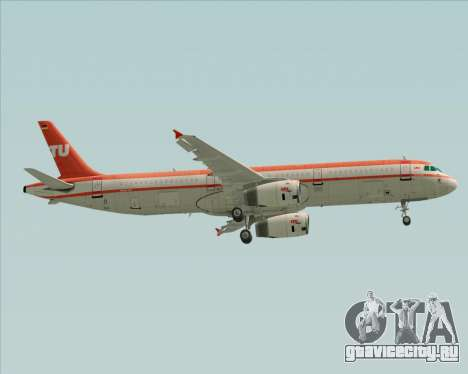 Airbus A321-200 LTU International для GTA San Andreas колёса