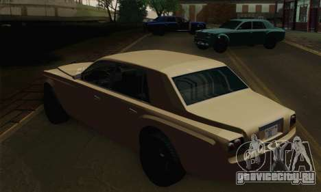 Enus Super Diamond для GTA San Andreas вид сзади слева