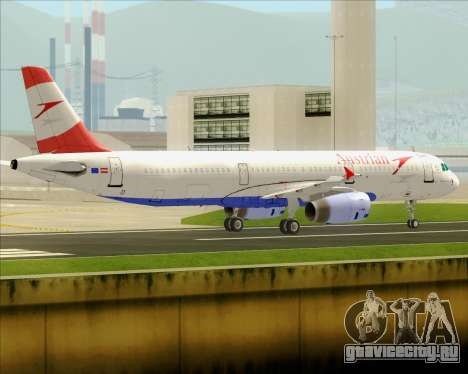 Airbus A321-200 Austrian Airlines для GTA San Andreas вид сзади