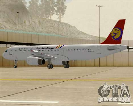 Airbus A321-200 TransAsia Airways для GTA San Andreas вид сзади