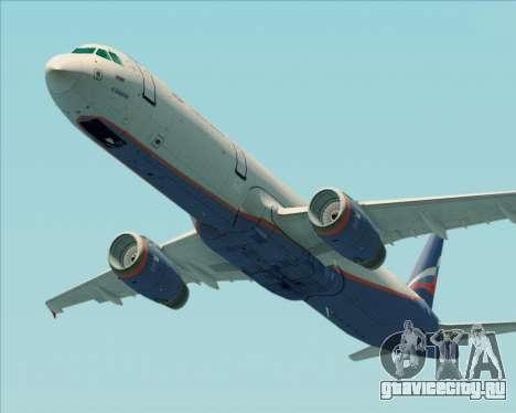 Airbus A321-200 Aeroflot - Russian Airlines для GTA San Andreas вид изнутри