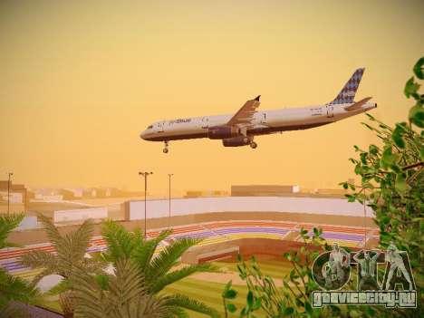 Airbus A321-232 jetBlue Airways для GTA San Andreas вид сверху