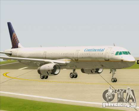 Airbus A321-200 Continental Airlines для GTA San Andreas вид изнутри