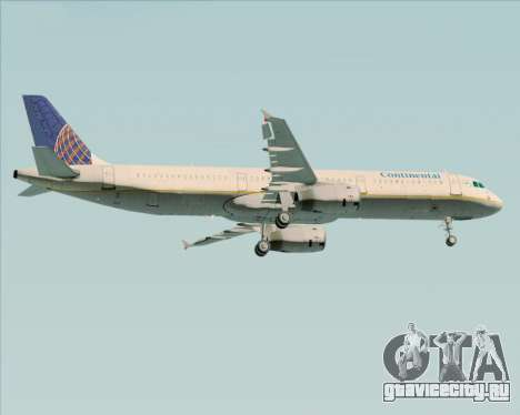 Airbus A321-200 Continental Airlines для GTA San Andreas колёса