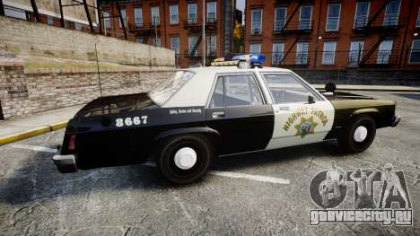 Ford LTD Crown Victoria 1987 Police CHP1 [ELS] для GTA 4 вид слева