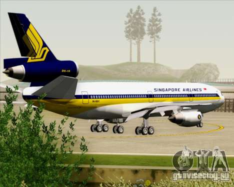 McDonnell Douglas DC-10-30 Singapore Airlines для GTA San Andreas колёса
