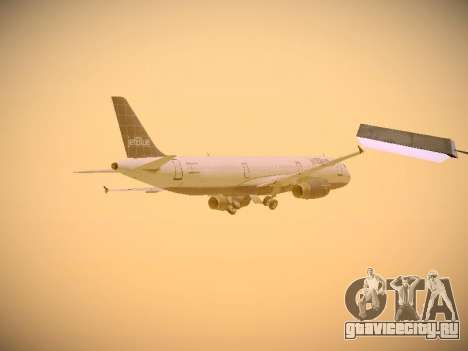 Airbus A321-232 jetBlue Batty Blue для GTA San Andreas вид снизу
