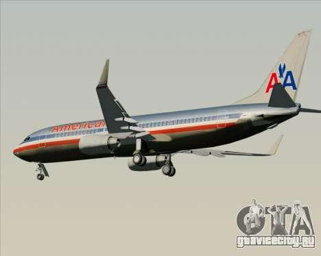 Boeing 737-800 American Airlines для GTA San Andreas вид сзади