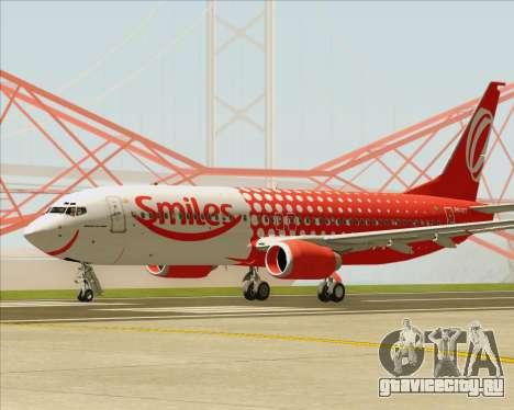 Boeing 737-800 Gol Transportes Aéreos для GTA San Andreas вид снизу