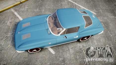 Chevrolet Corvette Stingray 1963 v2.0 для GTA 4 вид справа