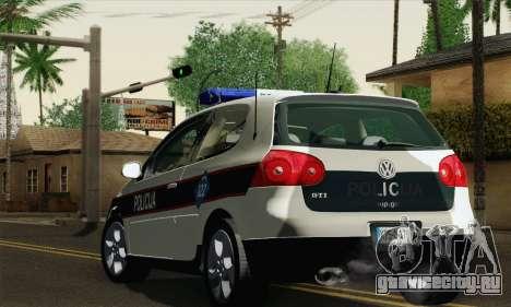 Volkswagen Golf V для GTA San Andreas вид слева
