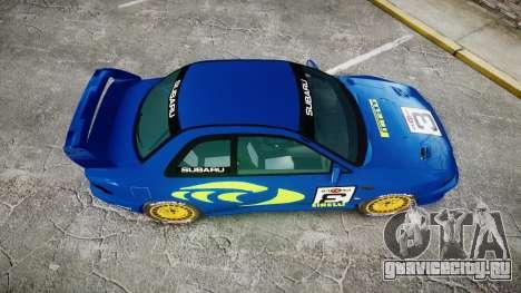 Subaru Impreza WRC 1998 World Rally v3.0 Green для GTA 4 вид справа