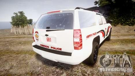 Chevrolet Suburban 2008 Hebron Police [ELS] Red для GTA 4 вид сзади слева