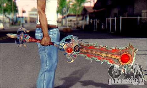 Меч (World Of Warcraft) v2 для GTA San Andreas третий скриншот