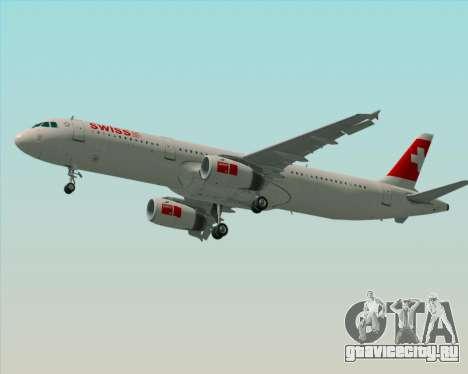 Airbus A321-200 Swiss International Air Lines для GTA San Andreas двигатель