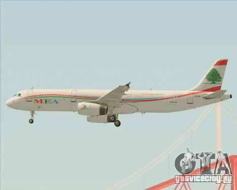 Airbus A321-200 Middle East Airlines (MEA) для GTA San Andreas колёса