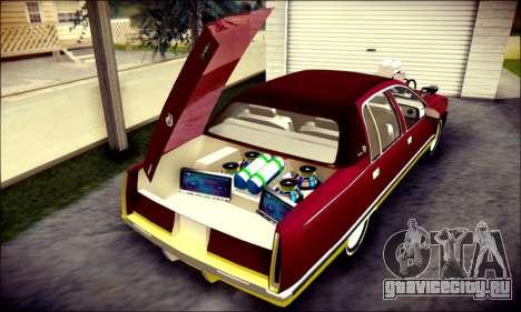 Cadillac Fleetwood 1993 Lowrider для GTA San Andreas салон