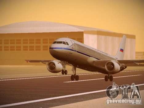 Airbus A320-214 Aeroflot Retrojet для GTA San Andreas вид слева