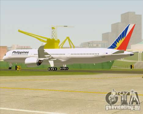 Airbus A350-900 Philippine Airlines для GTA San Andreas колёса