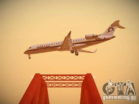 Bombardier CRJ-700 Horizon Air для GTA San Andreas вид изнутри