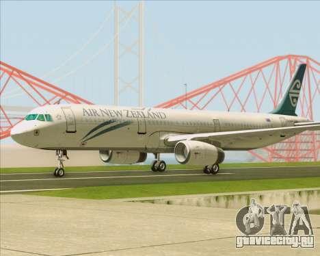 Airbus A321-200 Air New Zealand для GTA San Andreas вид сзади