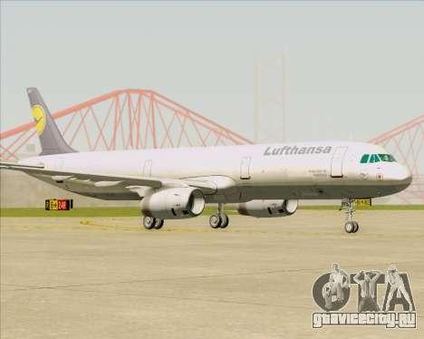 Airbus A321-200 Lufthansa для GTA San Andreas вид слева