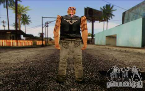 Biker from GTA Vice City Skin 1 для GTA San Andreas второй скриншот