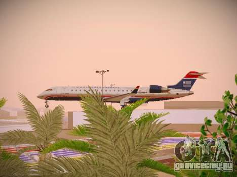 Bombardier CRJ-700 US Airways Express для GTA San Andreas вид изнутри