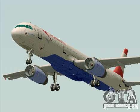 Airbus A321-200 Austrian Airlines для GTA San Andreas вид сзади слева