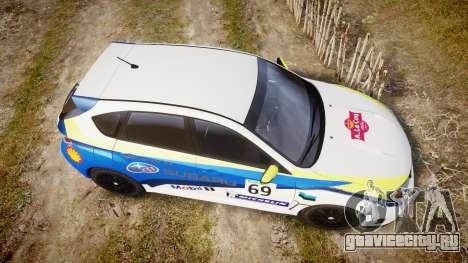 Subaru Impreza Cosworth STI CS400 2010 Custom для GTA 4 вид справа