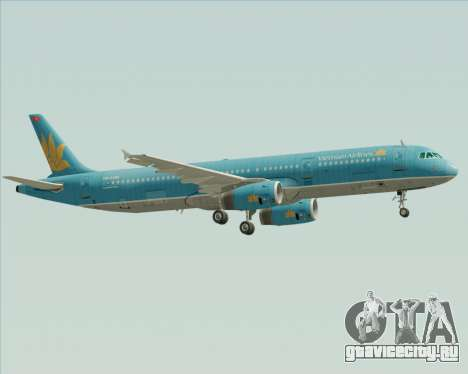 Airbus A321-200 Vietnam Airlines для GTA San Andreas вид справа