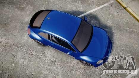 Volkswagen Beetle A5 Fusca для GTA 4 вид справа