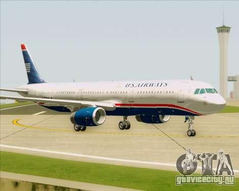 Airbus A321-200 US Airways для GTA San Andreas вид изнутри