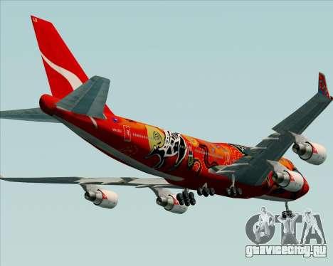 Boeing 747-400ER Qantas (Wunala Dreaming) для GTA San Andreas вид снизу