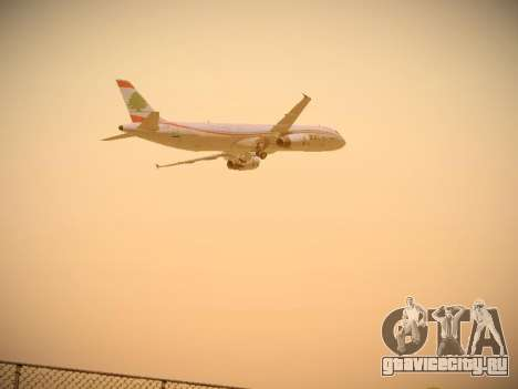 Airbus A321-232 Middle East Airlines для GTA San Andreas вид сверху