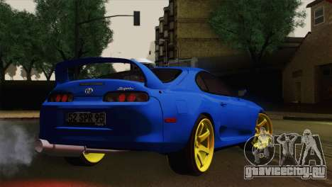 Toyota Supra Twin Turbo для GTA San Andreas вид слева